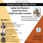 IMA Makassar International Webinar Leading Your Business in Coronavirus Crisis
